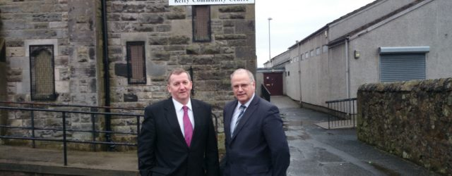 Fife Council leader David Ross visited Kelty this week and met up wit