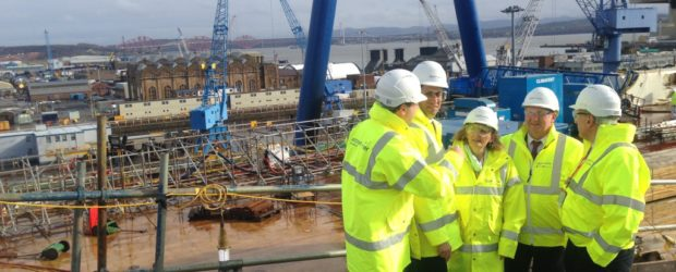 Photo shows Ed Miliband, Margaret Curran and Alex Rowley being briefed on progress on top of the Queen Elizabeth carrier.  Local MSP Alex Rowley joined with Shadow Secretary of […]