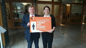 Alex Rowley supports Treat Me Right campaign