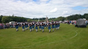 Pipe Band contest in the wonderful setting of Lochore Meadows Country Park