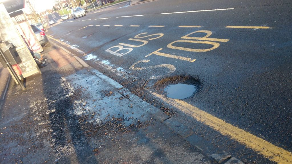 It is very important to report holes in the road to Fife Council