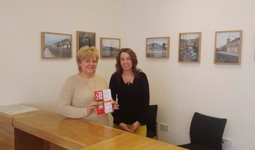 Sandra and Shirley welcome job applicants at the Cowdenbeath Constituency Office