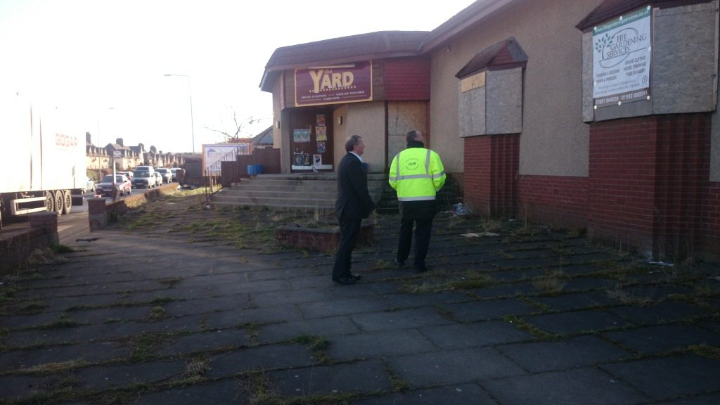 Alex Rowley joins a member of Fife Council staff to check out the building
