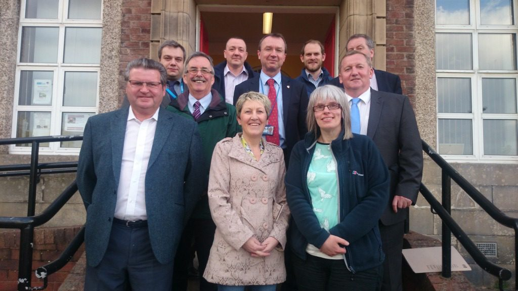 representatives from the companise, the council and local residents along with Alex Rowley at the meeting