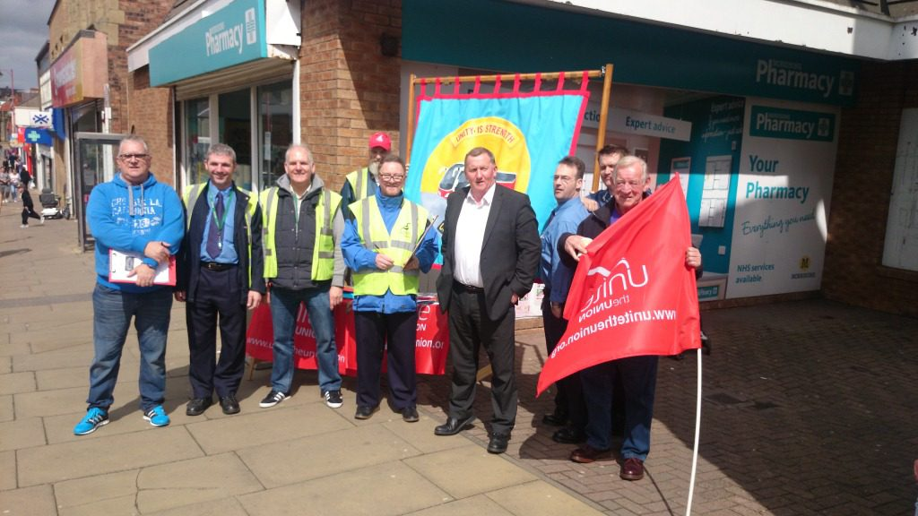 Members of staff campaign to save garage