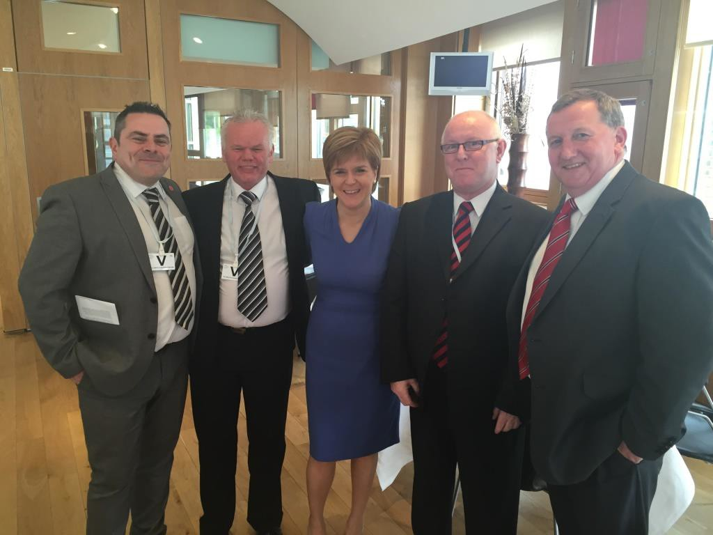 First Minister congratulates Willie on his workplace learning activities
