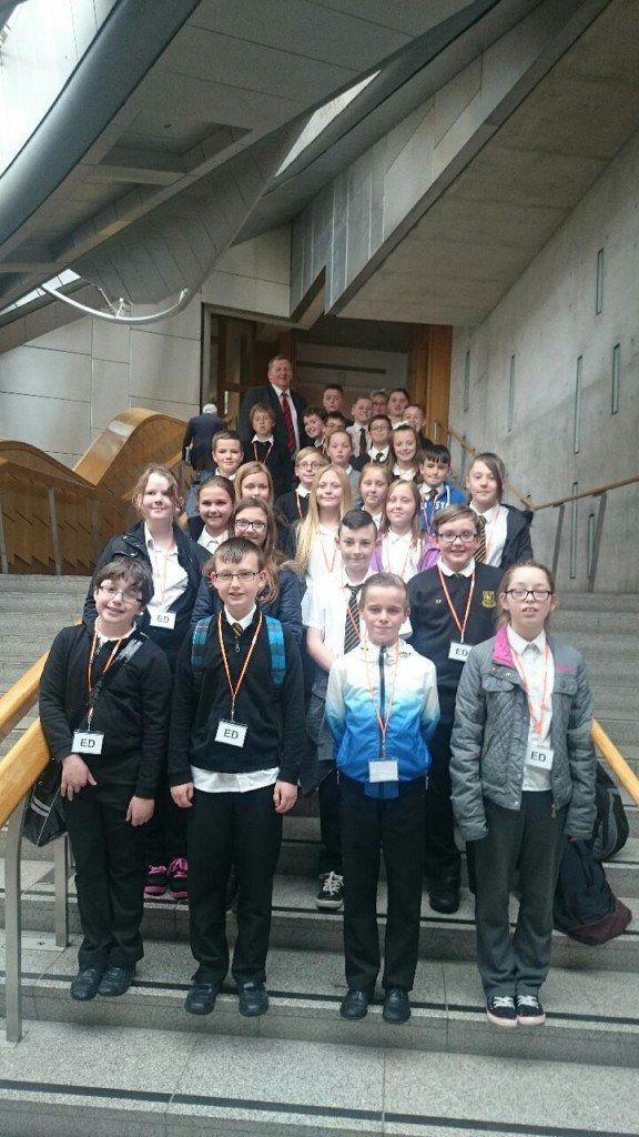 Meeting with Primary 7 pupils from St Joseph's Kelty