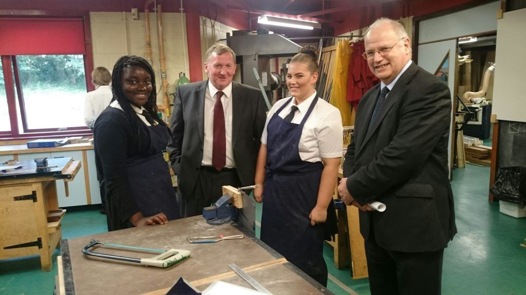Photo shows Sarah Andoh-Kesson, Alex Rowley, Courtney Fleming and Fife Council leader David Ross