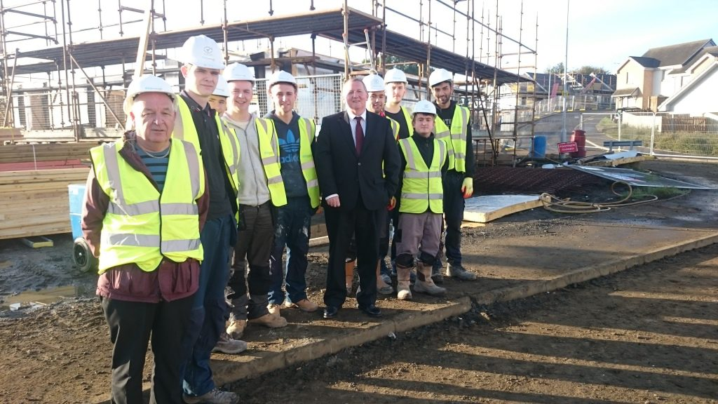 Building council houses give people skills and jobs as well as a roof over their head