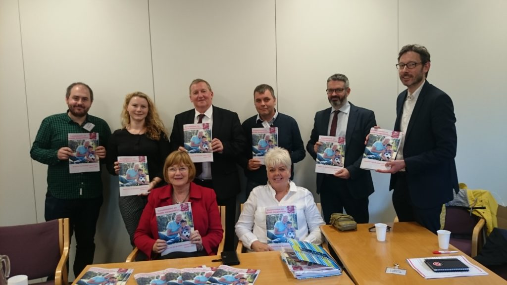 Alex Rowley MSP welcoming the launch of the Health Inequality Commission report.