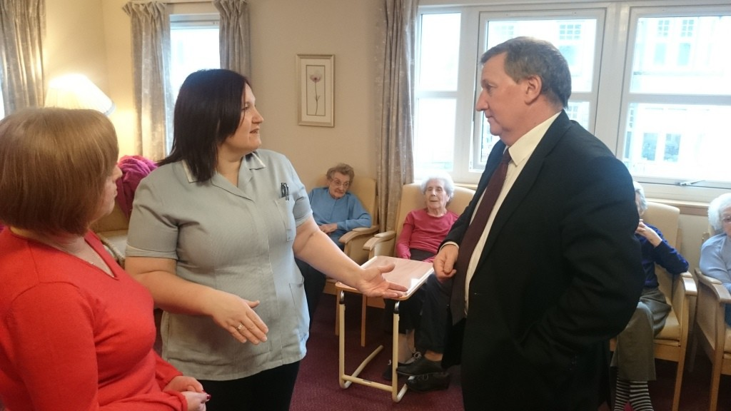 Meeting residents and staff in Crossgates
