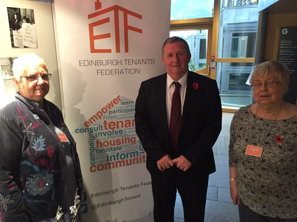 Alex With members of Edinburgh Tenants Federation