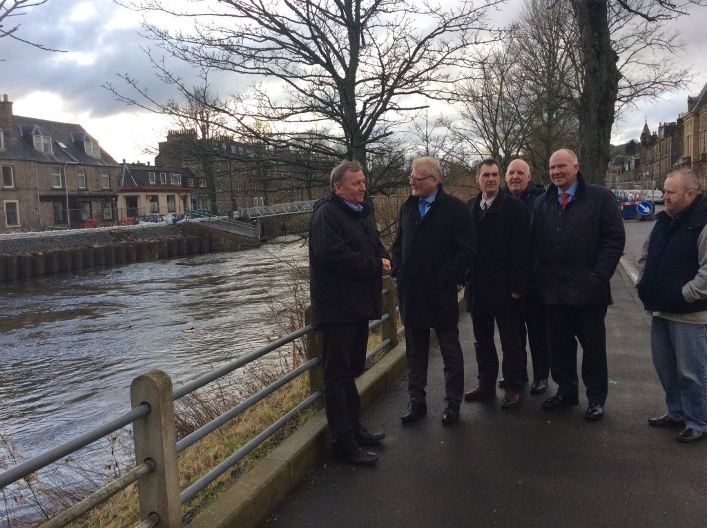 Alex Rowley hears first hand the issues in Hawick